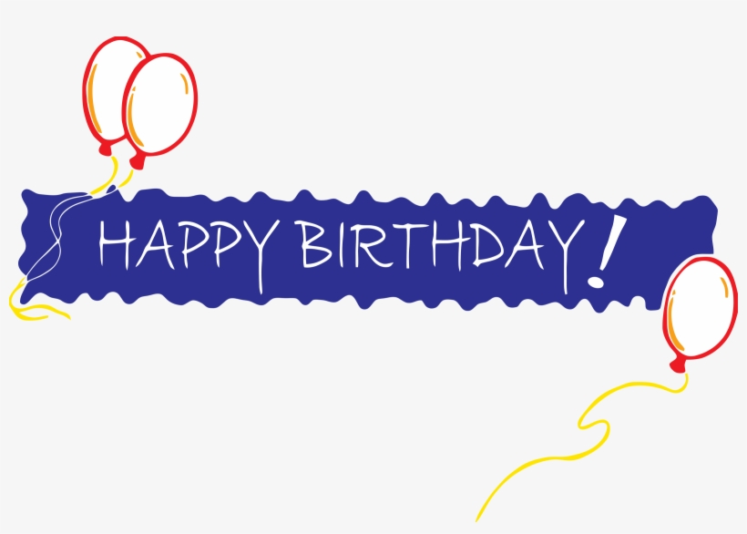 Happy Birthday Banner Png File Download Free - Happy Birthday In One Line, transparent png #398322