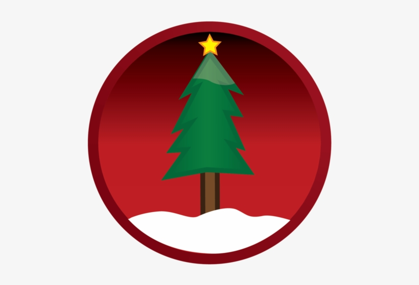 Free Vector Vector Christmas Tree Button - Christmas Start Button Png, transparent png #398585
