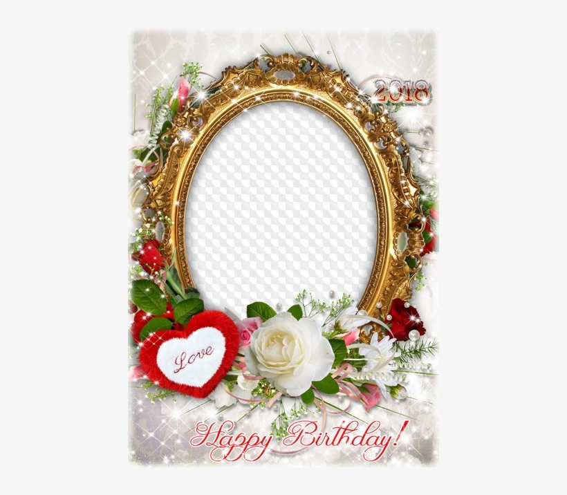 Birthday Photo Frame For Photoshop - Happy Birthday Love Frame Png, transparent png #399147