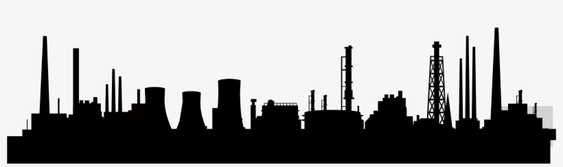 Svg Royalty Free Download Collection Of Free Factories - Factory Skyline Silhouette, transparent png #399687