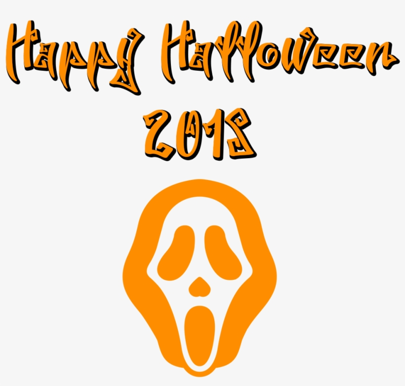 Happy Halloween 2018 Scary Font Mask - Scary Transparent Background Happy Halloween Png, transparent png #3900392