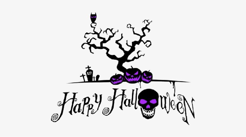 Happy Halloween Logo And Pumpkin - Spooky Happy Halloween, transparent png #3900493