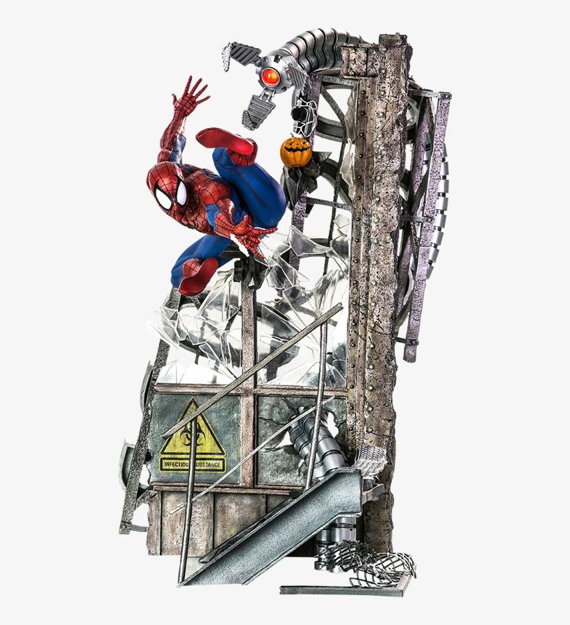 Marvel Polystone Statue Spider-man - Spider-man - Spider-man 1:4 Scale Statue, transparent png #3900764