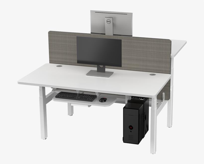Eureka Standing Desks L Shape Right White - Standing Desk, transparent png #3902503