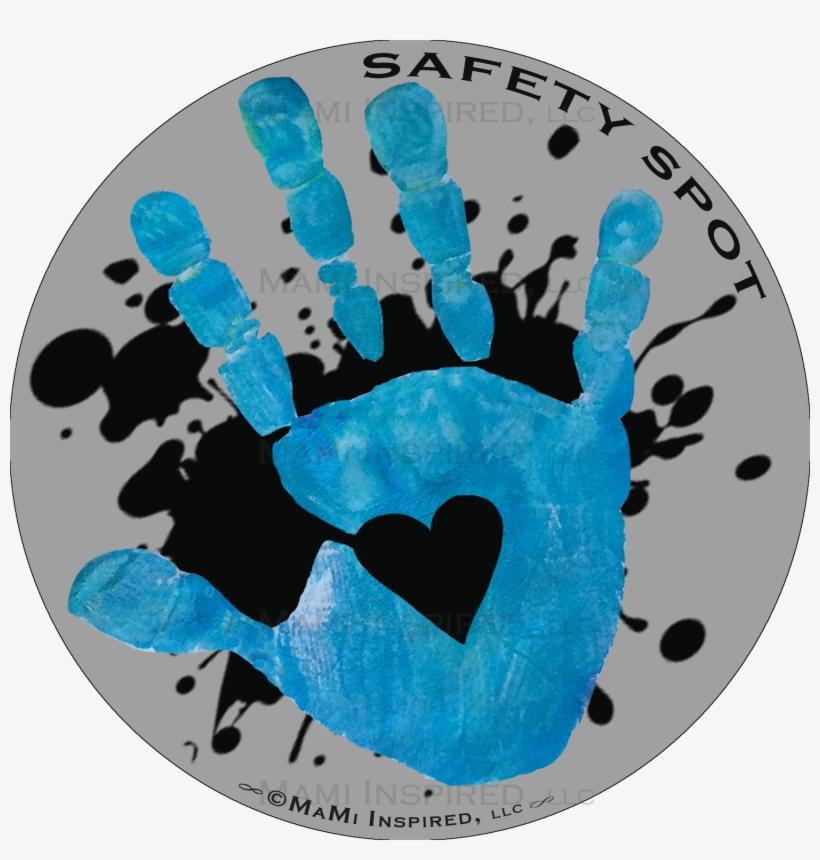 Safety Spot Kids Gray With Black Splat Hand Car Magnet - Safety Spot Inc., transparent png #3903630
