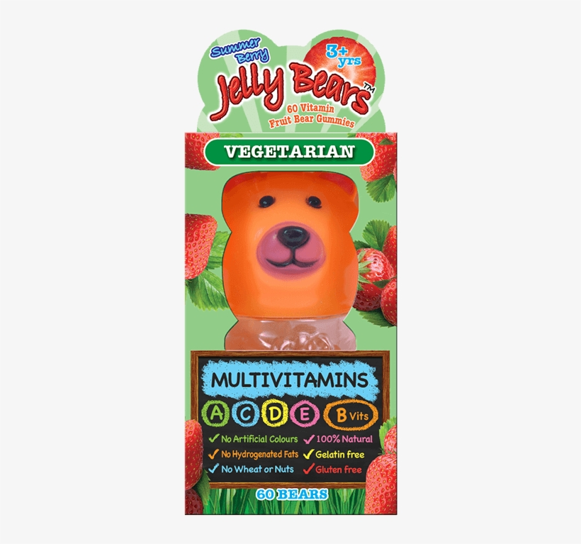 Jelly Bears Multivitamins Fruit Bear 60 Chewables - Jelly Bears Calcium Berries 60 Gummies, transparent png #3905231