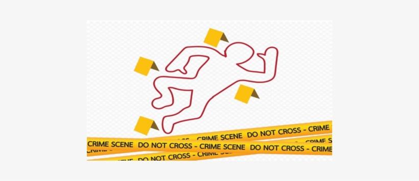 Crime Scene Body Outline And Tape - Graphic Design - Free