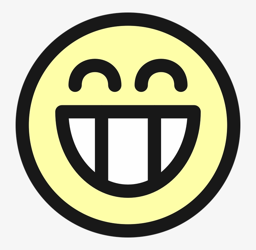 Smiley Face Icon Transparent Free Icons - Grinning Face Badges Button, transparent png #3907167