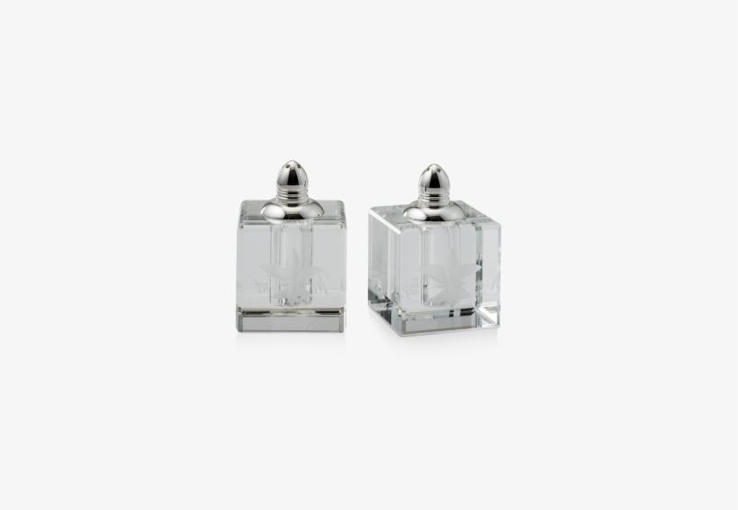 Fleur De Lis Crystal Salt And Pepper Shakers - Mignon Faget Fleur De Lis Crystal Salt, transparent png #3910222