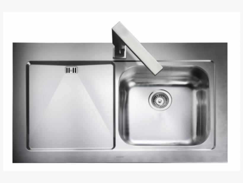 Mezzo Single Bowl Kitchen Sink Top View Png
