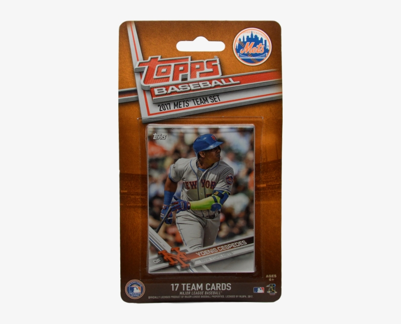 Topps New York Mets 2017 Baseball Cards 17-card Team - New York Mets 2016/17 Team Set Baseball Trading Cards, transparent png #3911863