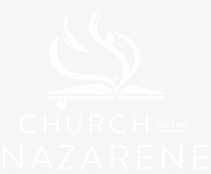 Nazarene Logo-stacked White - Logo De La Iglesia Del Nazareno Png, transparent png #3913916