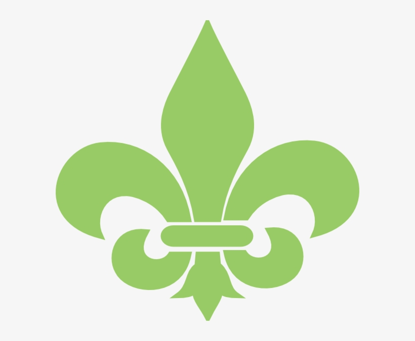 Green Fleur De Lis Clip Art At Vector Clip Art - Fleur De Lis Green, transparent png #3914075