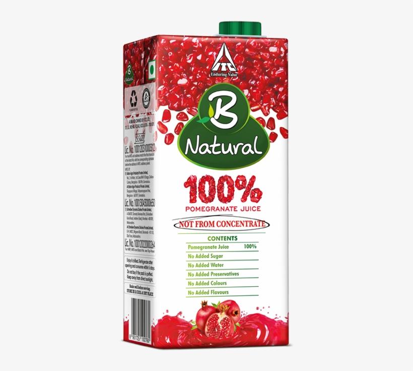 B Natural Mixed Fruit Drinks - B Natural 100 Pomegranate Juice, transparent png #3914188