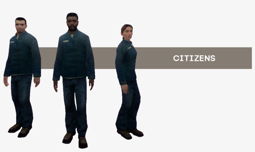 [ Img] - Half Life 2 Citizen Outfits, transparent png #3915155