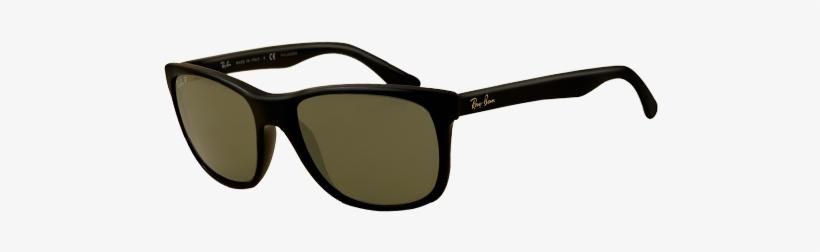 Ray Ban Rb4181 Black Polarised Sunglasses - Ray-ban Men's Rb4181 Polarised Square Sunglasses, transparent png #3918185