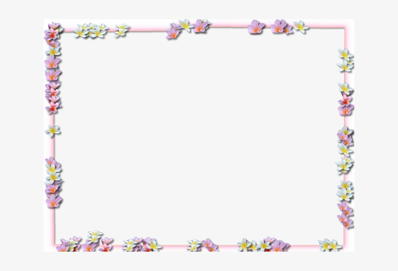 Flowers Borders Png Transparent Images - Frame Flower Border Png, transparent png #3919987