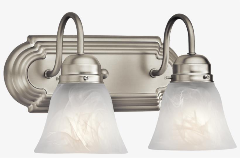 Lights Candle Wall Lights Wood Wall Sconce Electric - Kichler Lighting 5336 2 Light Bathroom Light, transparent png #3920032