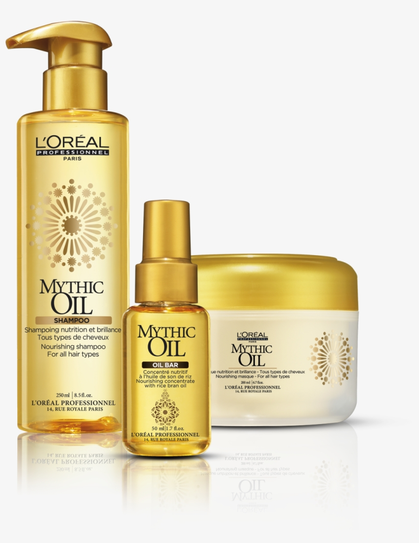 L'oreal Mythic Oil Hair Care Products - L'oreal Professional Mythic Oil Shampoo 250ml, transparent png #3920388