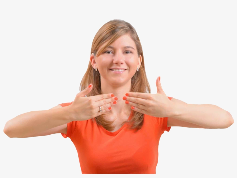 For The Deaf, Hard Of Hearing And Hearing Communities - Person Doing Sign Language, transparent png #3922909