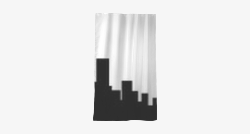 New York City Skyline Silhouette Sheer Window Curtain - Skyline, transparent png #3923093