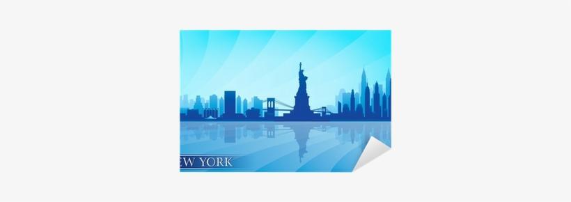 New York City Skyline Detailed Silhouette Sticker • - Golden Gate Bridge Clip Art, transparent png #3923173