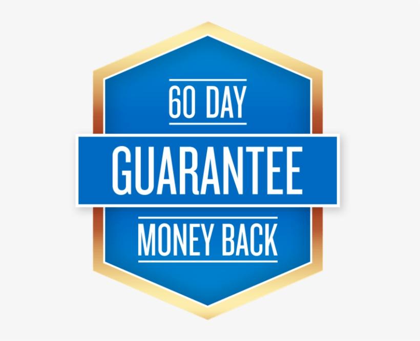 60 Day Guarantee - 60 Days Money Back Guarantee, transparent png #3927928
