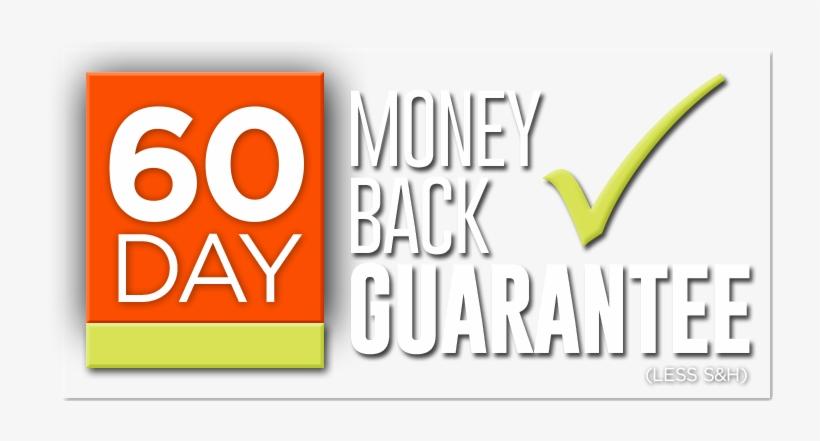 60 Day Money Back Guarantee - 90 Days Money Back Guarantee, transparent png #3928125