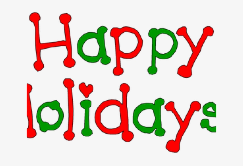 Holydays Clipart December - Wish You Happy Holidays Png, transparent png #3928151