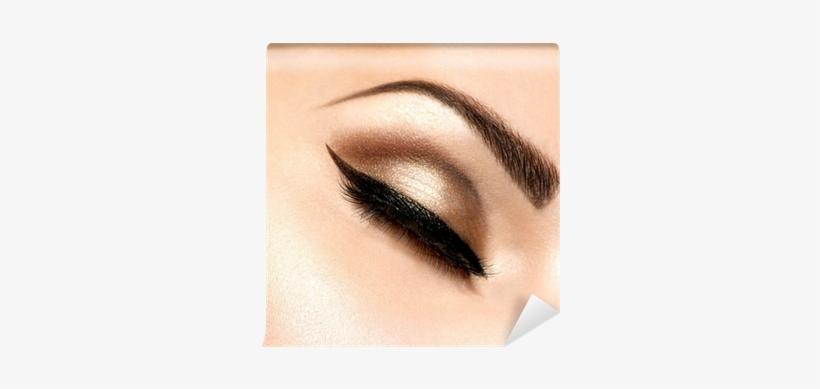Beautiful Eyes Retro Style Make-up Wall Mural • Pixers® - Eyes Makeup Of Bridal, transparent png #3928247