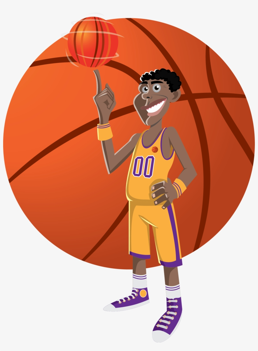 Basketball Cartoon Funny Basketball Free Transparent Png Download Pngkey