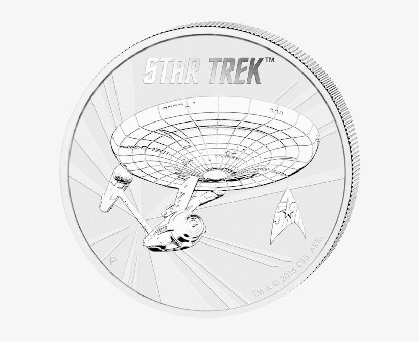 1 $ Star Trek, Uss Enterprise - 1 Ounce Silver Coin Star Trek, transparent png #3930764