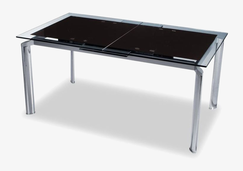 Modern Dining Tables - Home Usa Dark Glass Top Dining Table, transparent png #3934825