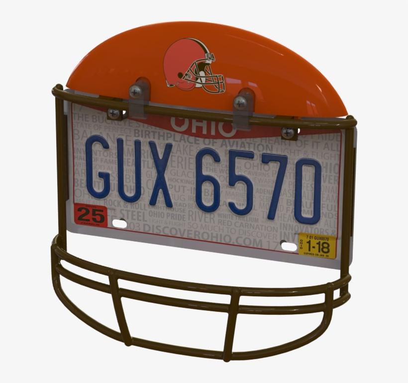 Cleveland Browns Helmet Frame - Sports Team License Plate Frame, transparent png #3934949