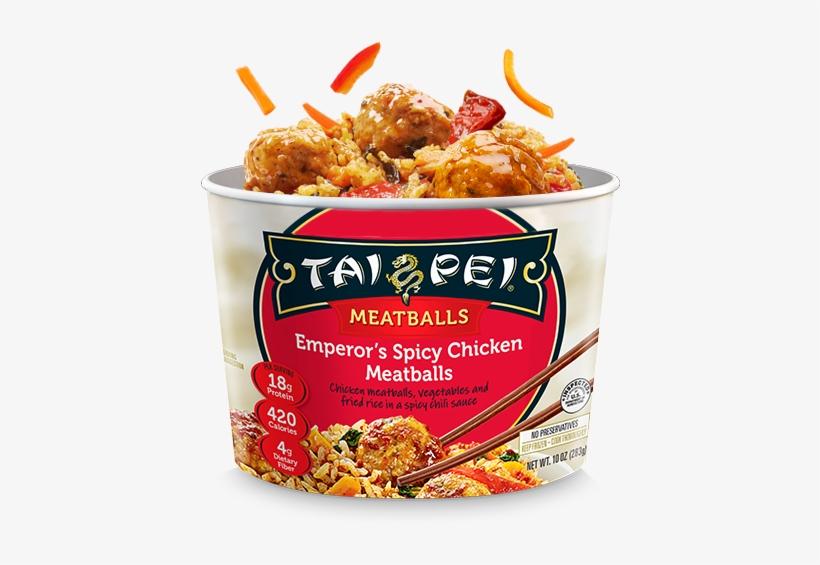Emperor's Spicy Chicken Meatballs - Tai Pei Beef & Broccoli - 14 Oz Box, transparent png #3935664