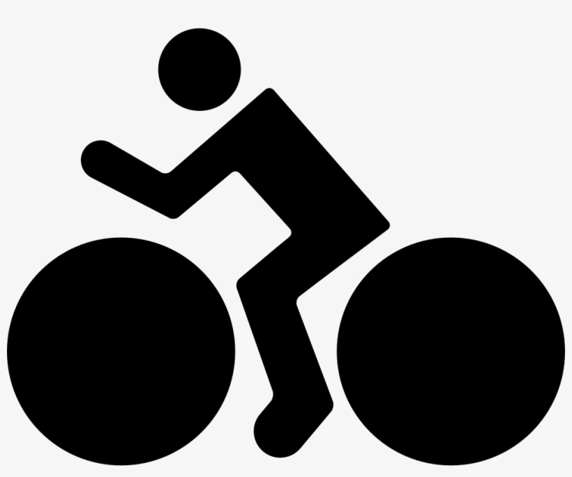 Man Riding On A Bike - Bike Riding White Icon Png, transparent png #3938343