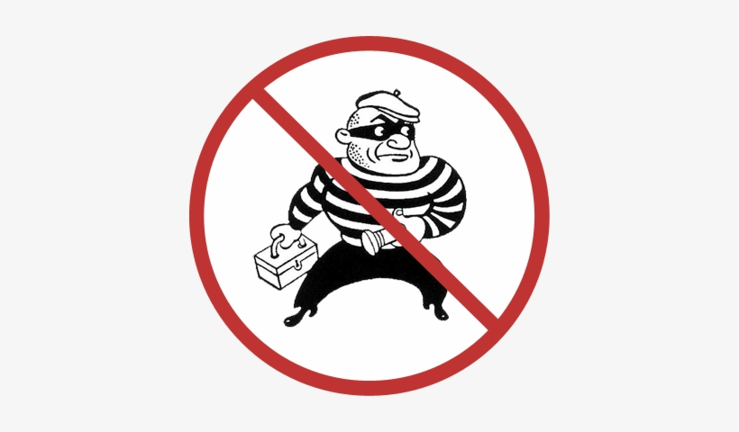 No Thieves Allowed - Good Guy Bad Guy Cartoon, transparent png #3939241