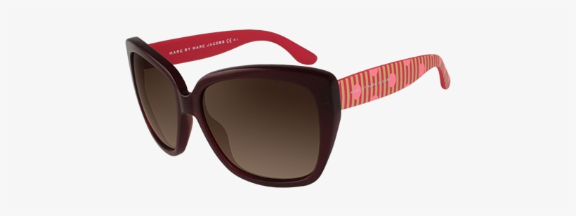 Marc By Marc Jacobs Mmj 358s Red Pink Sunglasses - Marc By Marc Jacobs Mmj 358/s Red Pink Sunglasses, transparent png #3943770