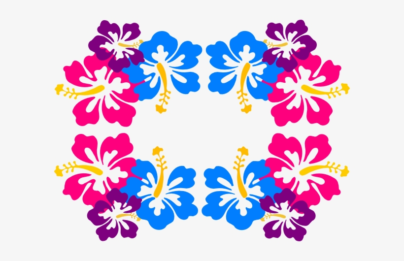Hibiscus Border Png For Kids - Frame Png Hawaiian Flowers, transparent png #3944804