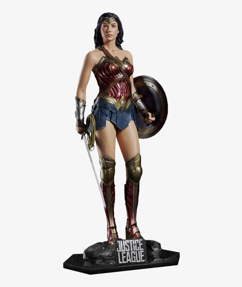 Justice League Wonder Woman - Wonder Woman Life Size Statue, transparent png #3946842