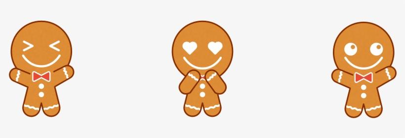 Cute Gingerbread Man Cartoon Free Transparent Png Download Pngkey