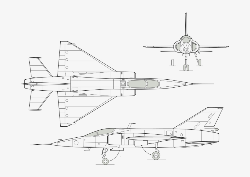 3 Side View Of The Helwan Ha 300 Delta Wing, Experimental - Hispano Aviacion Ha 300, transparent png #3948362