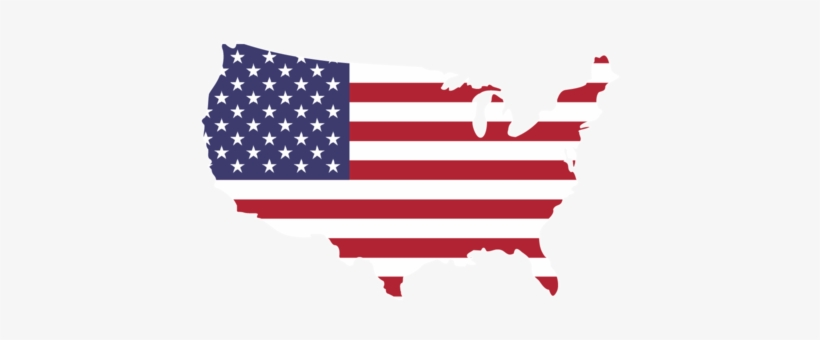 The American Co - Us Flag Shape Of Usa, transparent png #3950461