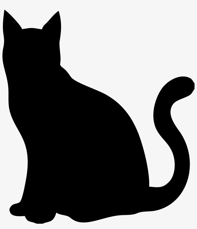 Pin By Nazkedi Taşpınar On Cat Art - Cat Silhouette, transparent png #3951949