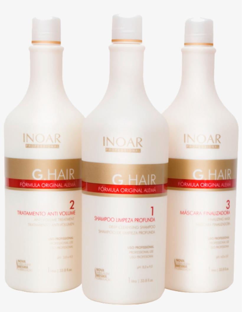 Inoar G Hair Limpeza Profunda 3 X 1l - Inoar G Hair Deep Cleansing Shampoo 1 L By Inoar, transparent png #3953609