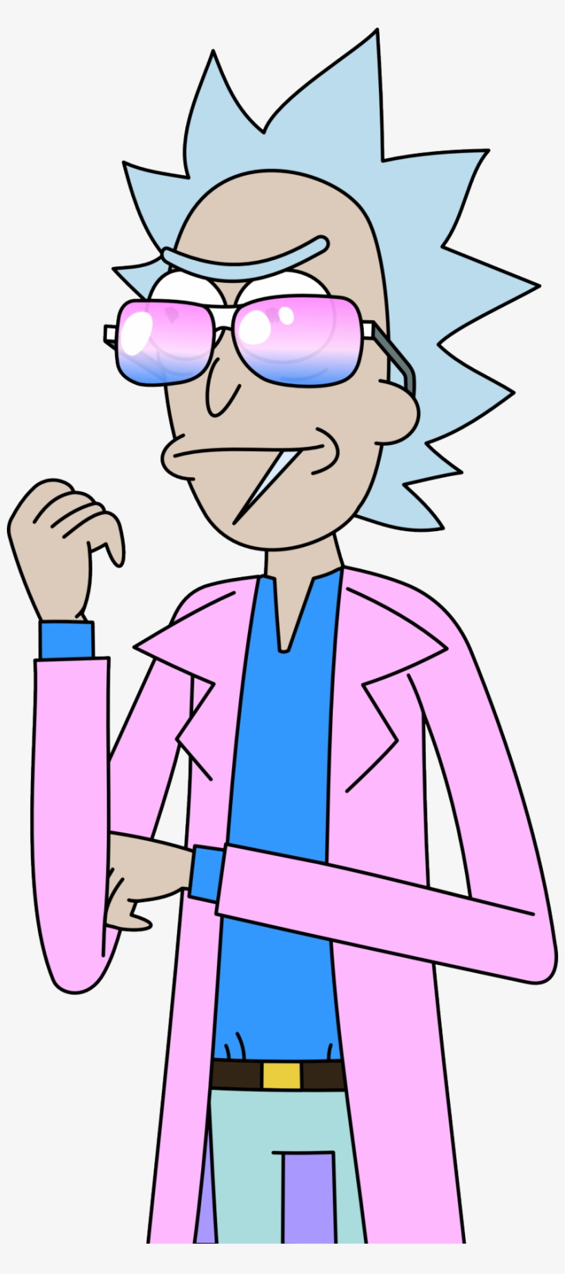 Miami Rick Transparent Vector By Steel-scorpion @ Tumblr - Rick And Morty Miami Rick, transparent png #3954619