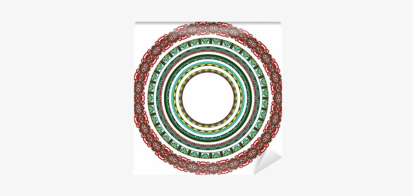 Set Of Round Geometrical Frames, Circle Border Ornament, - Disk, transparent png #3959680