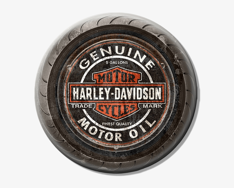 Harley-davidson Genuine Motor Old Tire Sign - Harley Davidson, transparent png #3966252