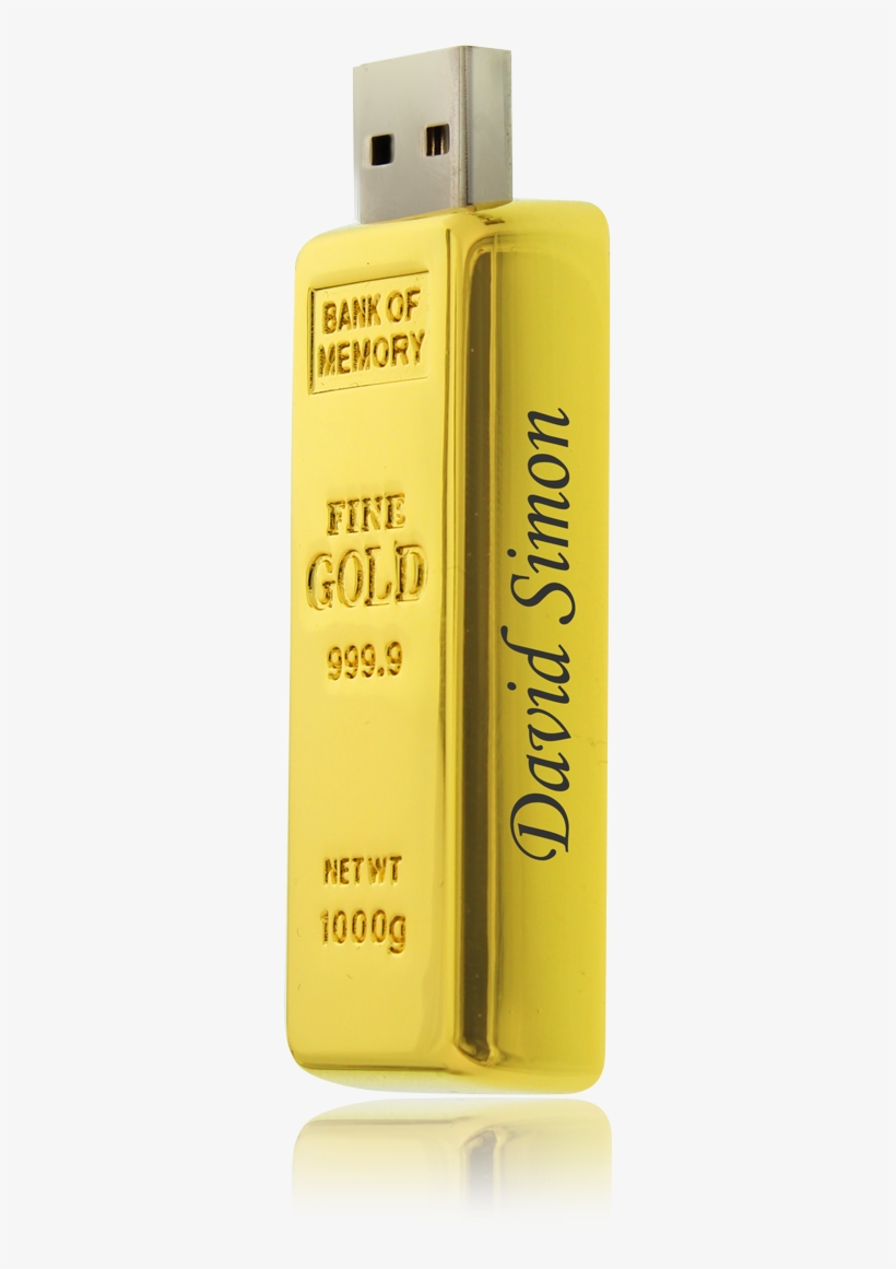 4 Gb Usb Flash Drive Gold Bar - Usb Flash Drive, transparent png #3968969