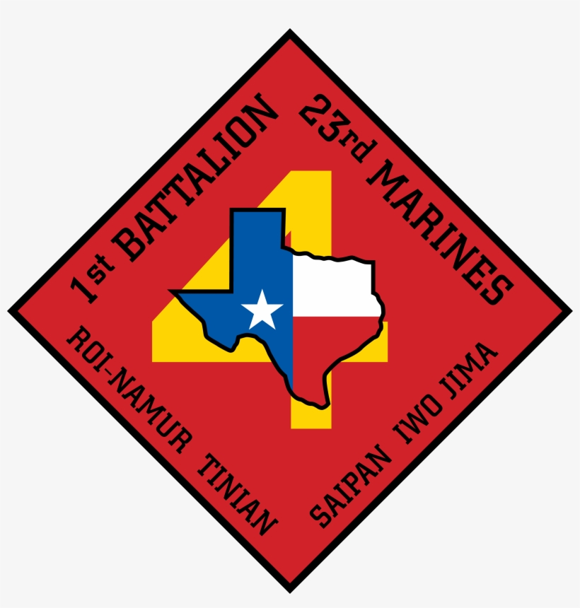 1st Battalion 23rd Marine Regiment Of United States - 1st Battalion, 23rd Marines, transparent png #3969552